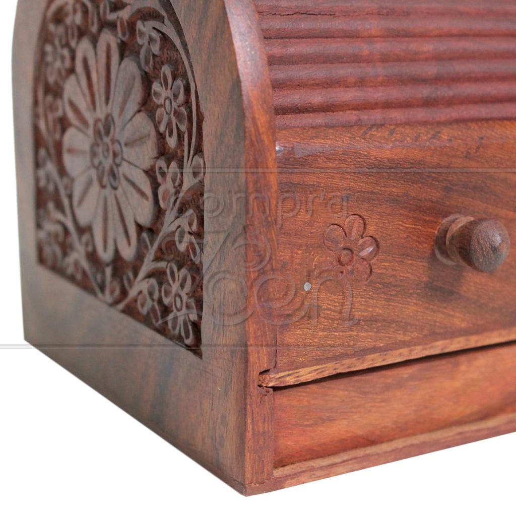 caixa sonora artesanal madeira modelo bau com gaveta india detalhe.jpg #974634 1024x1024