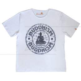 CAMISETA MASCULINA LINHA MEDITAÇÃO BUDDHISM TAM. G|ELEMENTARIUM