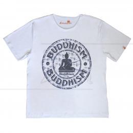 CAMISETA MASCULINA LINHA MEDITAÇÃO BUDDHISM TAM. P|ELEMENTARIUM