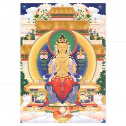 CARD EM PAPEL BUDA MAITREYA (SENTADO) 15 CM|THARPA