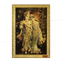 IMÃ DE GELADEIRA EM METAL KRISHNA E RADHA 7 CM (MOD. 1)|PROC. ÍNDIA