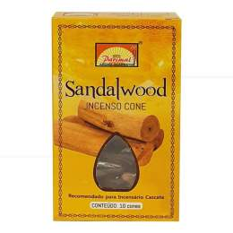 SANDALWOOD INCENSO MASALA CASCATA PARIMAL LUXO (10 UNIDADES)|PARIMAL MANDIR - ÍNDIA