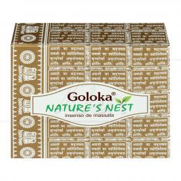 NATURE'S NEST INCENSO MASALA CASCATA GOLOKA (10 UNIDADES)|GOLOKA SEVA TRUST