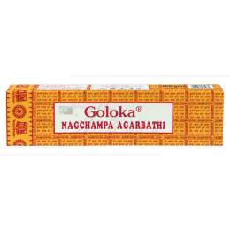 INCENSO MASALA GOLOKA NAGCHAMPA AGARBATHI BOX 100 G|GOLOKA SEVA TRUST