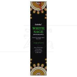 WHITE SAGE - SÁLVIA BRANCA  (ENERGIA XAMÂNICA) INCENSO MASALA GOLOKA|GOLOKA SEVA TRUST - ÍNDIA