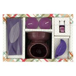 KIT AROMA RECHAUD C/ INCENSO JAPONÊS LAVANDA 8 CM|PROC. CHINA