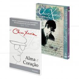 PROMOÇÃO KIT ALMA E CORAÇÃO DE CHICO XAVIER - LIVRO + DVD|VÁRIOS