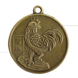 MEDALHA DUAS FACES EM METAL GALO / KUAN-YIN 2,5 CM|PROC. CHINA