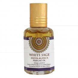 PERFUME EM ÓLEO WHITE SAGE (SÁLVIA BRANCA) 10 ML (ENERGIA XAMÂNICA)|GOLOKA - ÍNDIA