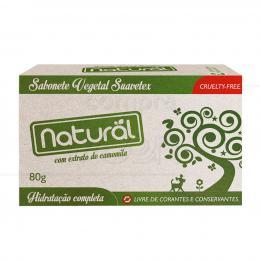 SABONETE 100% VEGETAL NATURAL C/ EXTRATO DE CAMOMILA 80 G|SUAVETEX