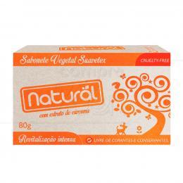 SABONETE 100% VEGETAL NATURAL C/ EXTRATO DE CÚRCUMA 80 G|SUAVETEX
