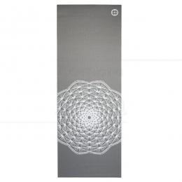 YOGA MAT EM PVC ECOLÓGICO MANDALA 5 MM CINZA 1,7 M|HOPUMANU